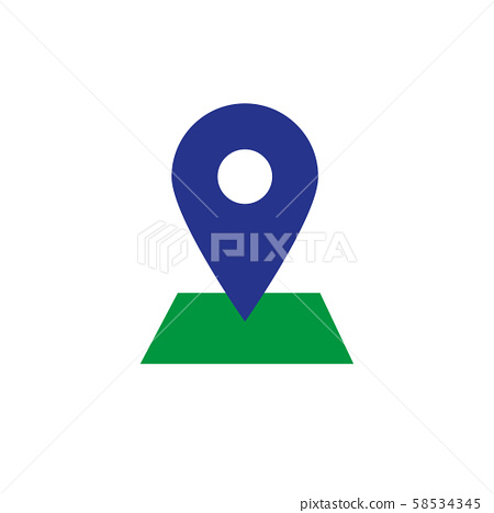 Placeholder flat symbol or location vector icon 58534345