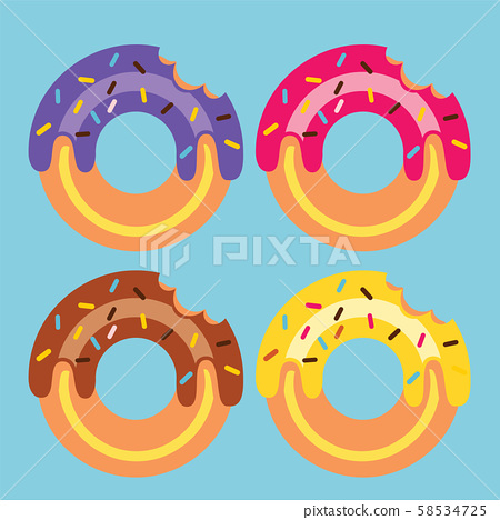 Four Donuts Vector Illustration 58534725