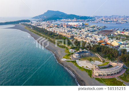 臺灣高雄旗津港灣景色Asia Kaohsiung Qijin Bay Landscape 58535255