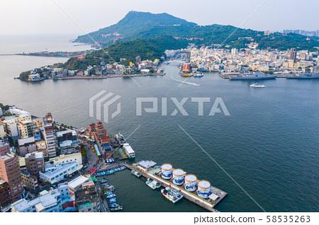 臺灣高雄旗津港灣景色Asia Kaohsiung Qijin Bay Landscape 58535263