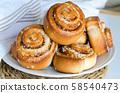 Swedish sweet pastry for breakfast 58540473