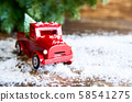 Merry Christmas and Winter holidays background 58541275
