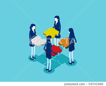 Business teamwork. Concept business vector 58542866