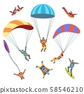 Skydivers or parachutists 58546210