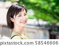 Businesswoman outdoors 58546606