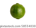 Fresh lime isolated on white 58554030