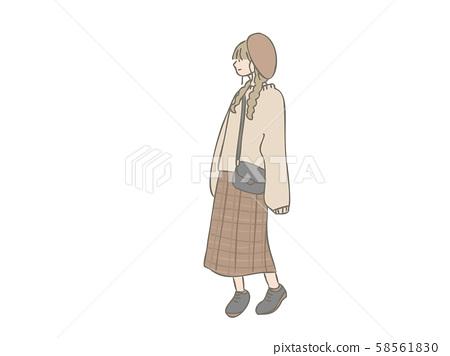 세련된 여자 베레모 58561830
