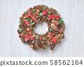 聖誕花環。 58562164