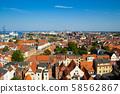 德國維斯馬的城市景觀(聖喬治教堂的風景) 58562867