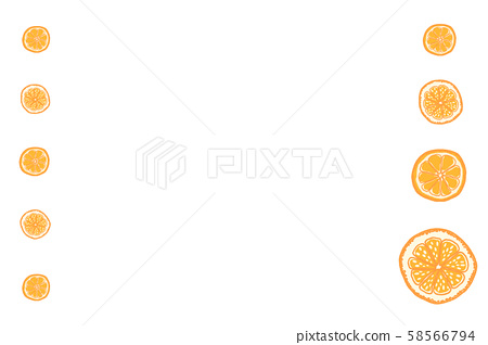 Hand painted fruit orange 58566794