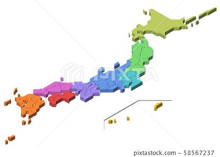 日本偏遠島嶼地區地圖(第4組) 58567237