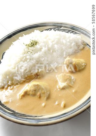 Hot butter chicken curry 58567699