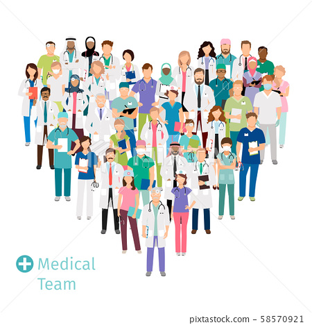 Healthcare medical team in heart shape 58570921