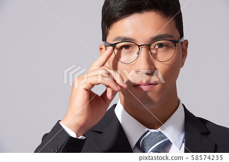 Male business glasses 58574235