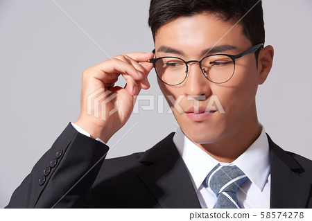 男商務眼鏡 58574278