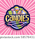 Vector logo for Candies 58576431