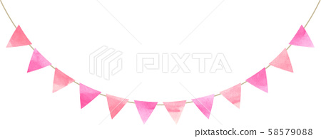 Flag_Triangle_Garland_Watercolor_Pink 58579088