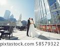 Beautiful wedding couple 58579322