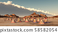 Indian camp in the mountains 58582054
