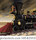 American steam locomotive from the 1850s 58582059