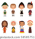 Kids of different nationalities 58585751