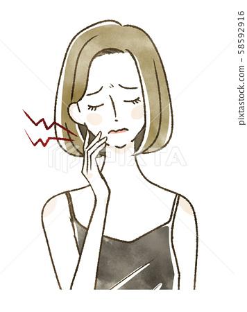 女性患皮膚粗糙 58592916