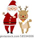 ซานตาและกวางเรนเดียร์ 58594006