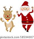 ซานตาและกวางเรนเดียร์ 58594007