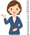 안내하는 여성 비즈니스 58594291