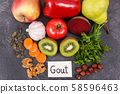 Healthy eating containing vitamins and minerals 58596463