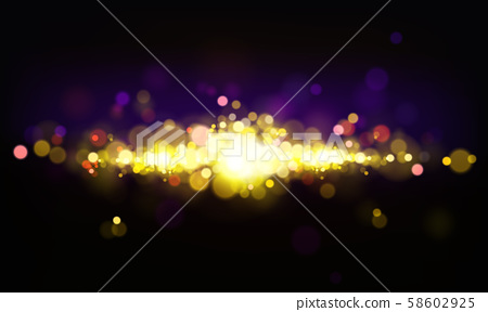 bokeh effect, background with shining elements 58602925