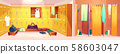 gym - changing room with shower cabins 58603047