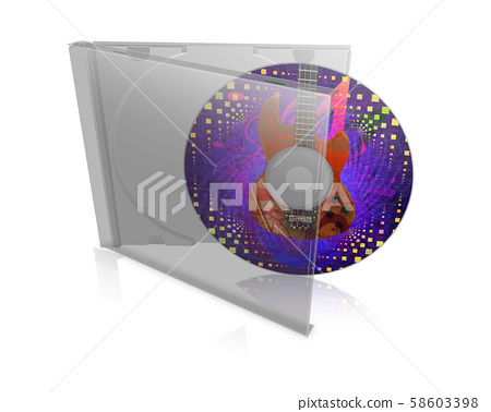 CD case with disk 58603398