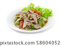 Spicy Salad Instant Noodles  with Vietnamese Pork 58604052