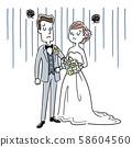 插圖素材:受婚禮困擾的男女 58604560