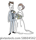 Illustration material: men and women to marry 58604562