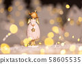 Decorative Christmas-themed figurines. Statuette 58605535