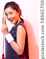 女運動員羽毛球 58605706