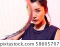 女运动员羽毛球 58605707