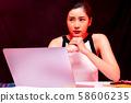 여성 비즈니스 부정적인 장면 58606235