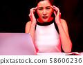 여성 비즈니스 컨디션 불량 58606236