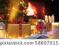 Christmas presents and candles  58607015