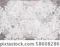 Rococo texture pattern Vector 58608286