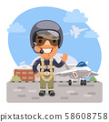 Cartoon Fighter Pilot 58608758
