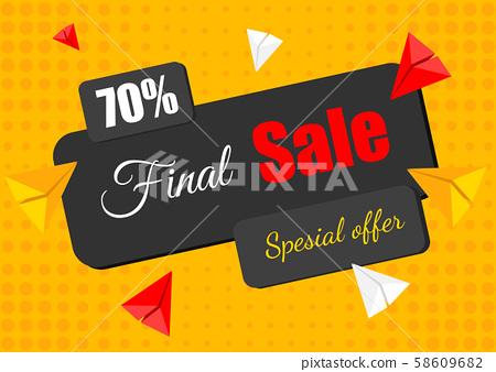 Special offer final sale banner 58609682