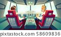Pilots in jet cockpit, capitain and co-pilot plane 58609836