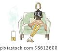 독서를하는 여성 - 가습기 58612600