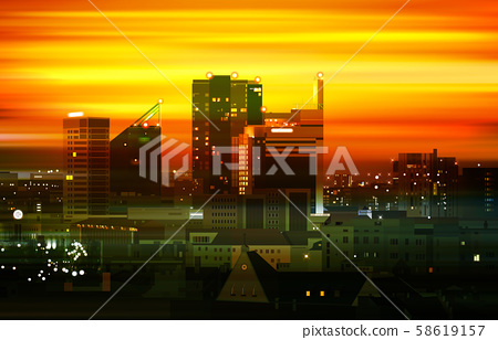 abstract motion blur golden background with 58619157