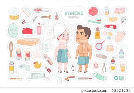 After shower bathroom stickers set, Dodo People collection 58621256