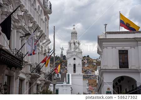 Walking towards Quito Cathedral 58627302